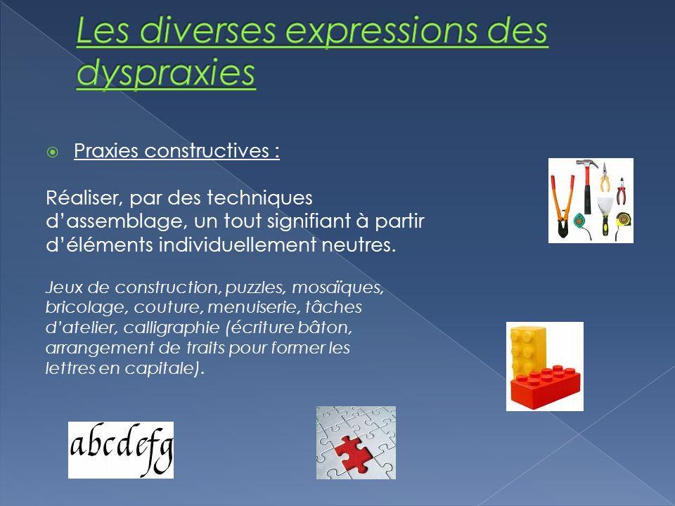 Les diverses expressions des dyspraxies