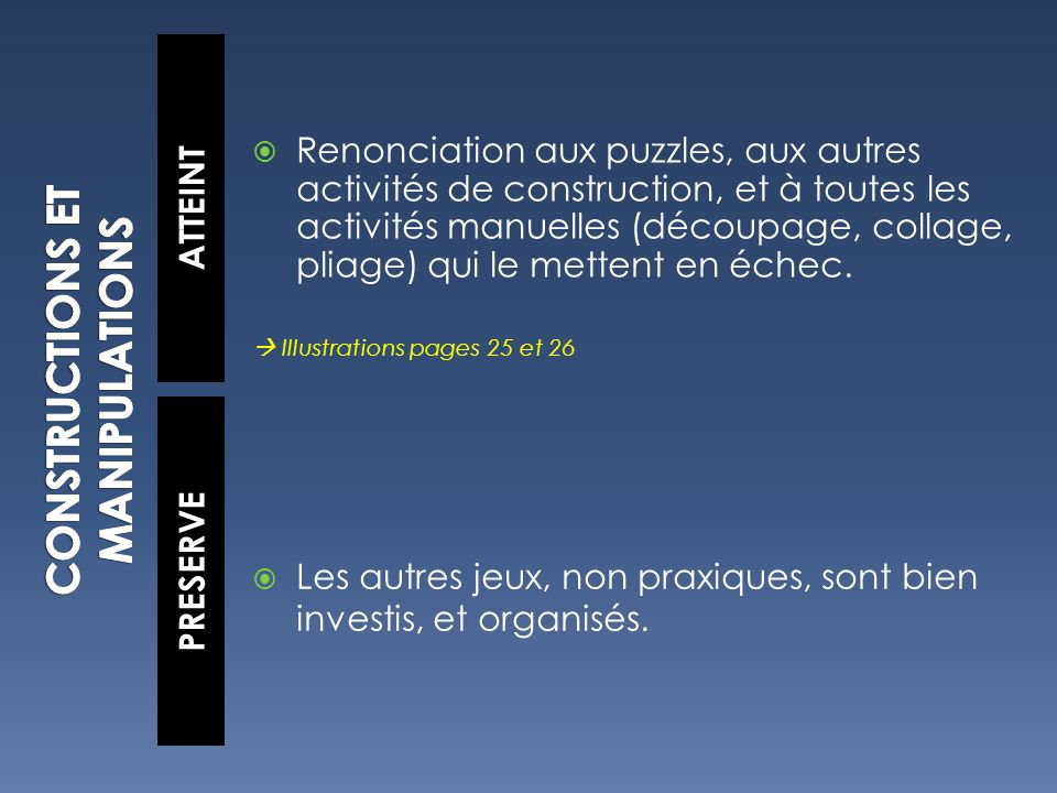CONSTRUCTIONS ET MANIPULATIONS