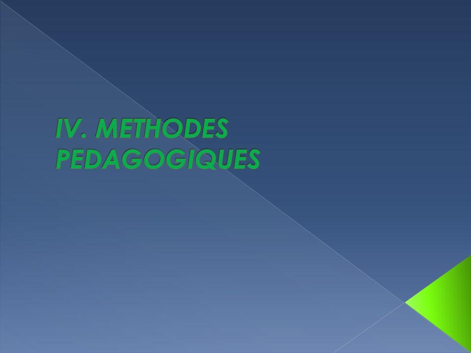 IV. METHODES PEDAGOGIQUES