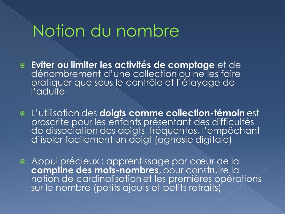 Notion du nombre