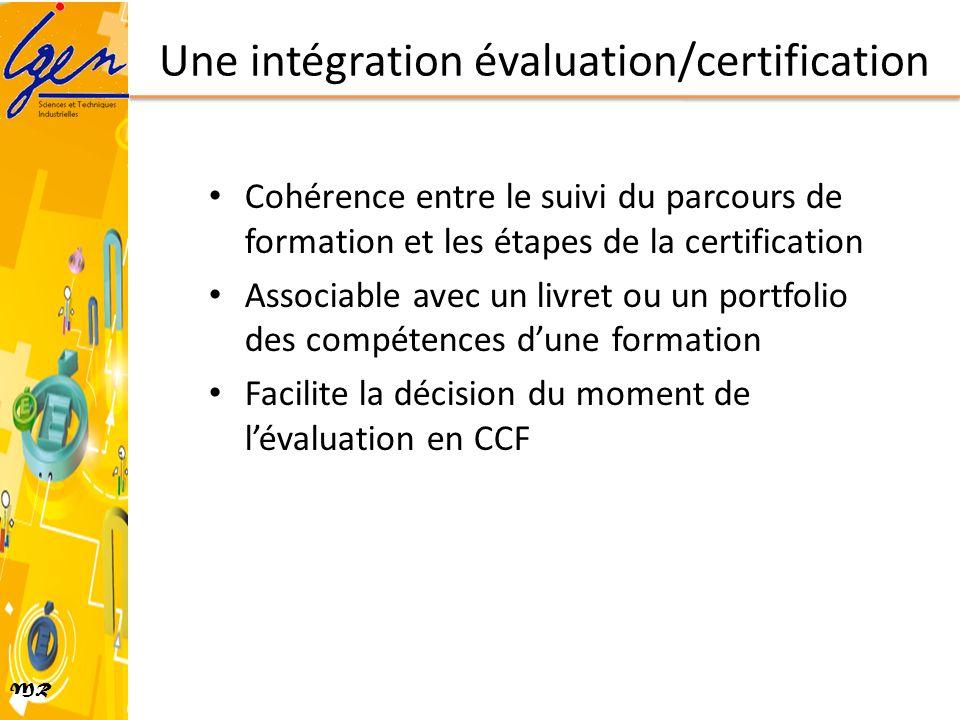 Une intégration évaluation/certification