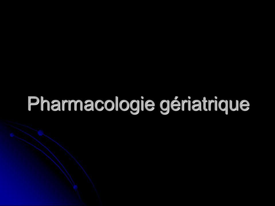 Pharmacologie gériatrique