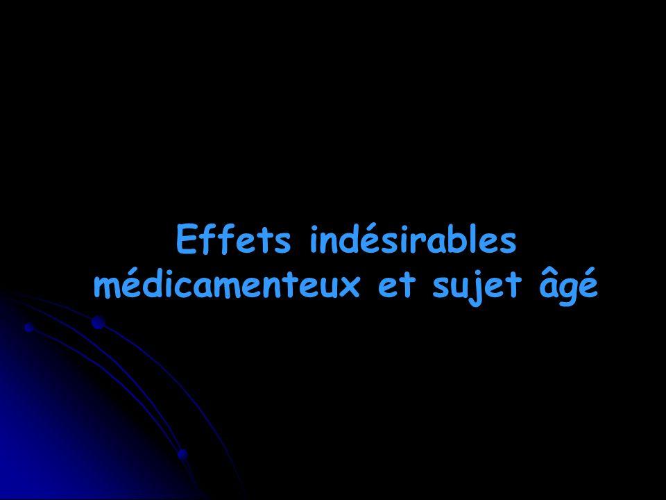 Effets indésirables médicamenteux et sujet âgé