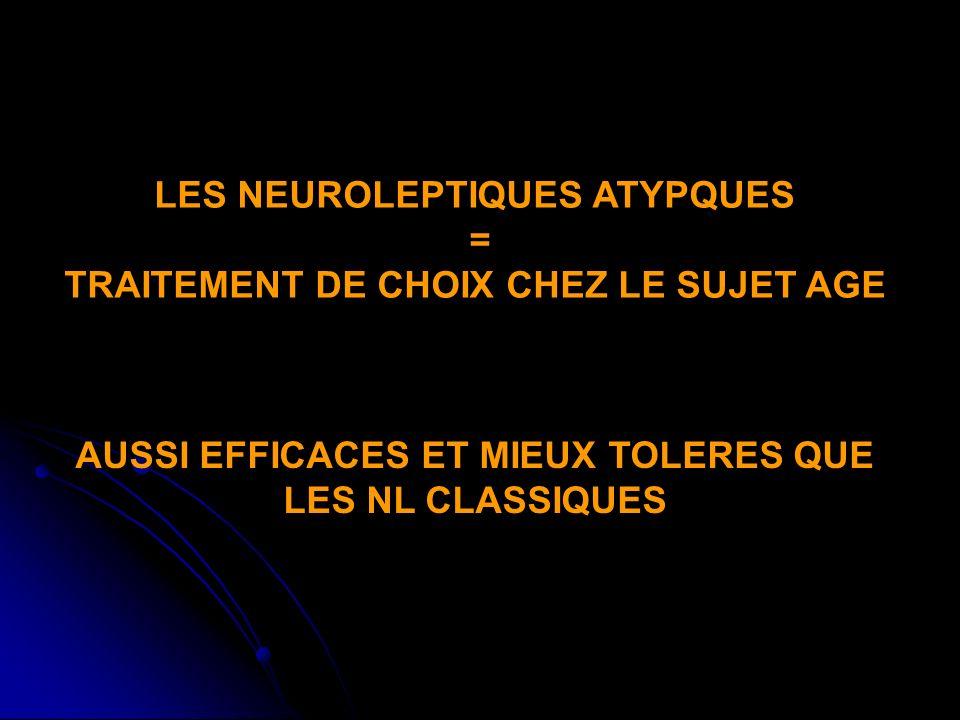 LES NEUROLEPTIQUES ATYPQUES = TRAITEMENT DE CHOIX CHEZ LE SUJET AGE