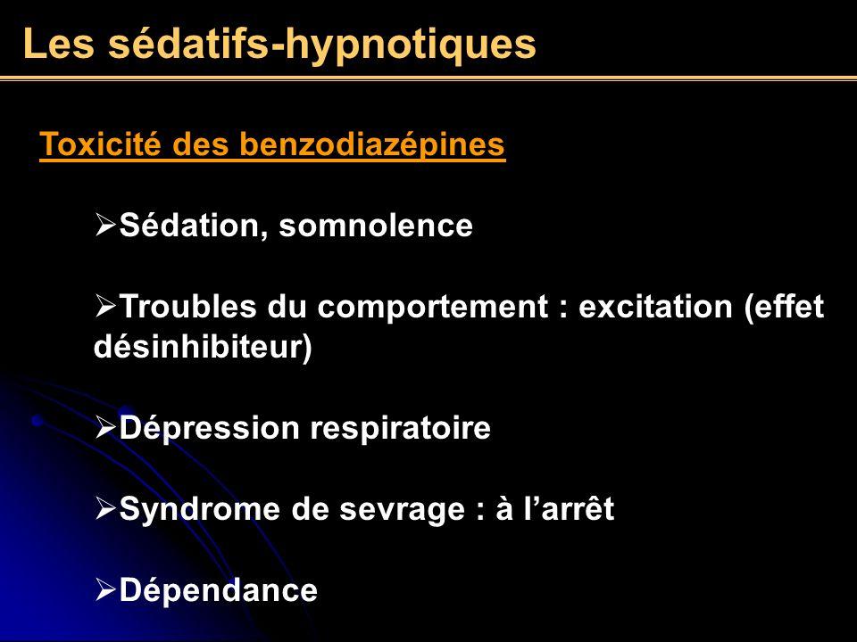 Les sédatifs-hypnotiques
