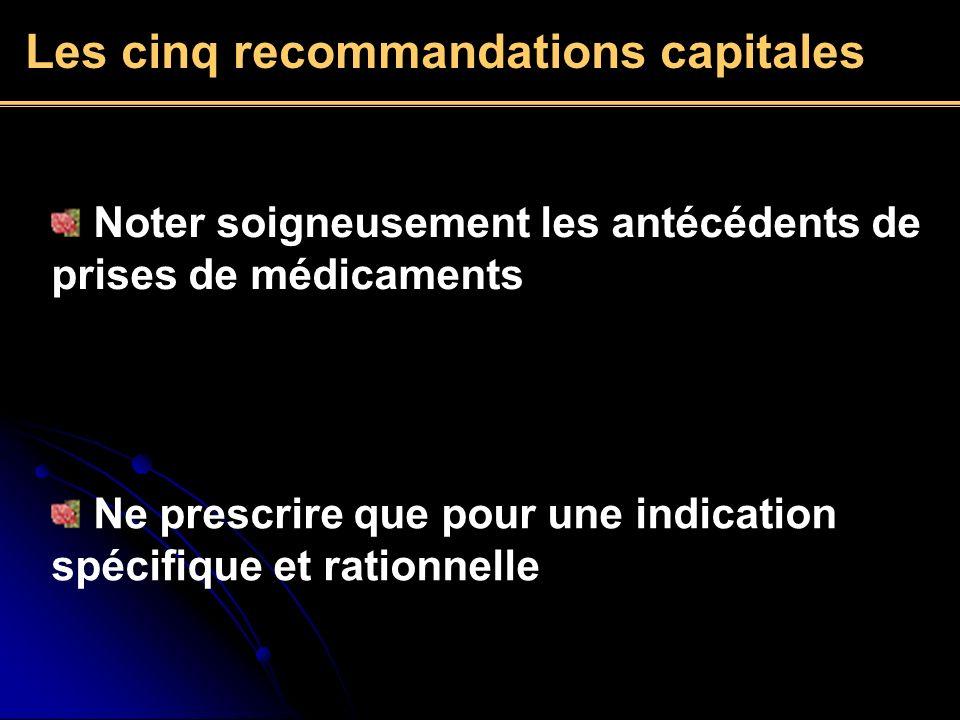Les cinq recommandations capitales