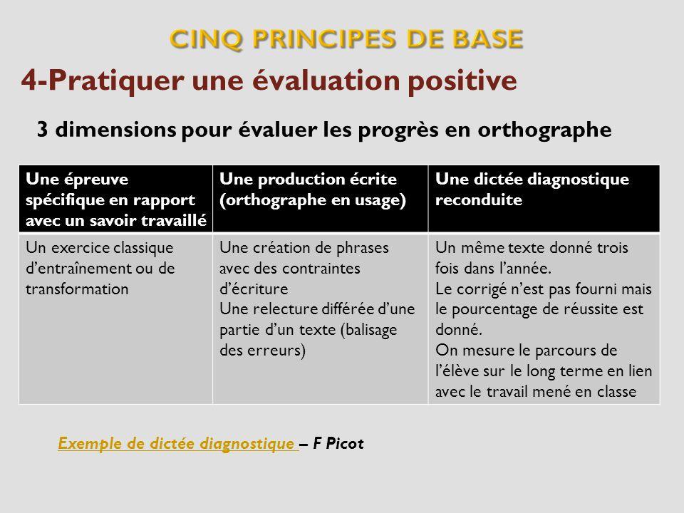 4-Pratiquer une évaluation positive