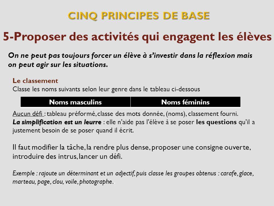 5-Proposer des activités qui engagent les élèves