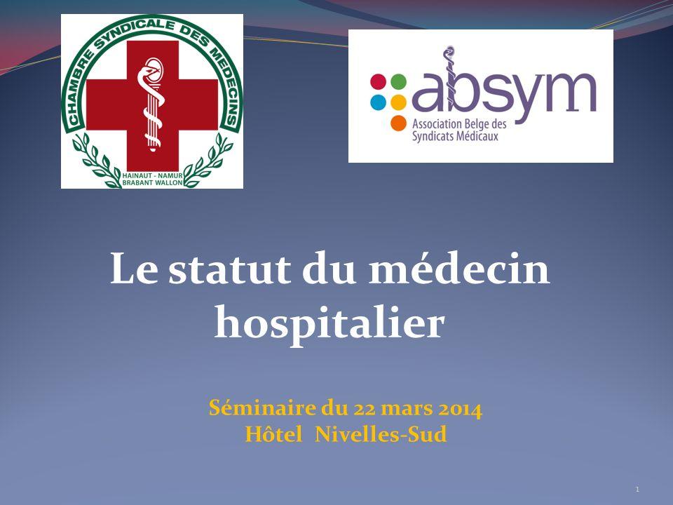 Le statut du médecin hospitalier