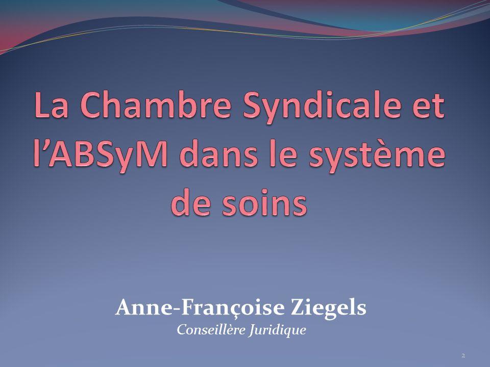 La Chambre Syndicale et l'ABSyM dans le système de soins