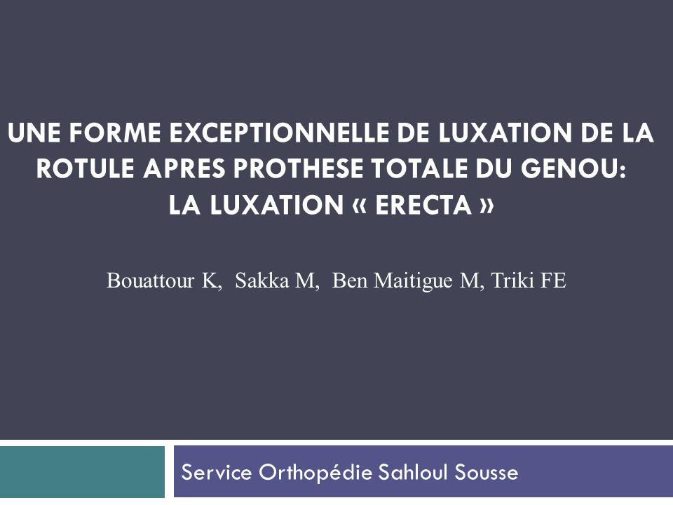 Service Orthopédie Sahloul Sousse