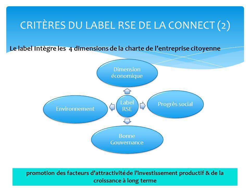 CRITÈRES DU LABEL RSE DE LA CONNECT (2)