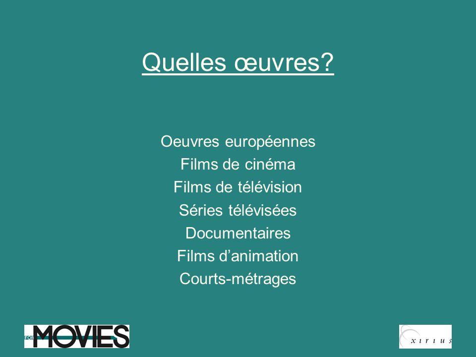 Quelles œuvres Oeuvres européennes Films de cinéma