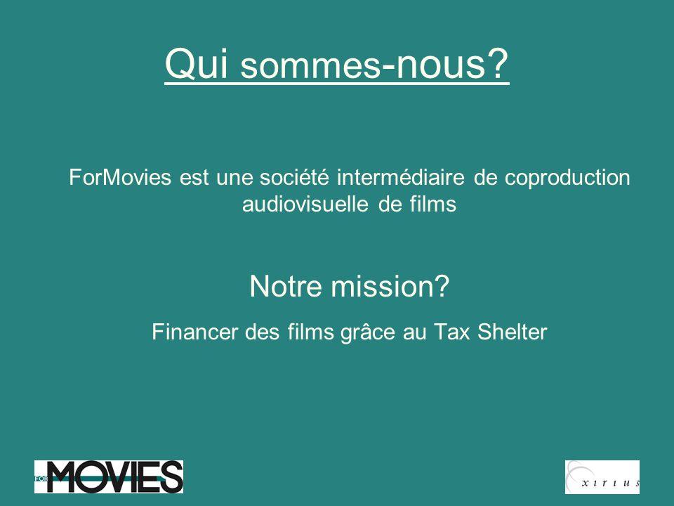 Financer des films grâce au Tax Shelter
