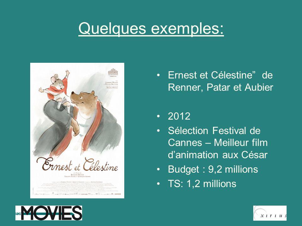 Quelques exemples: Ernest et Célestine de Renner, Patar et Aubier