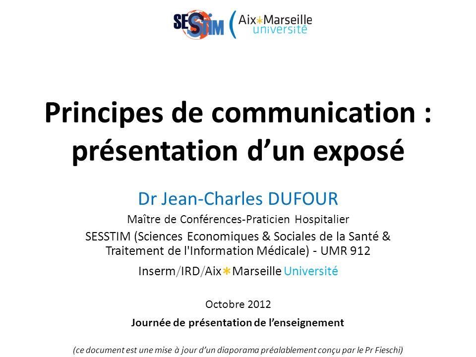 Principes de communication : présentation d'un exposé