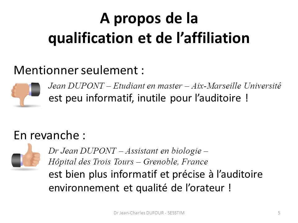 A propos de la qualification et de l'affiliation
