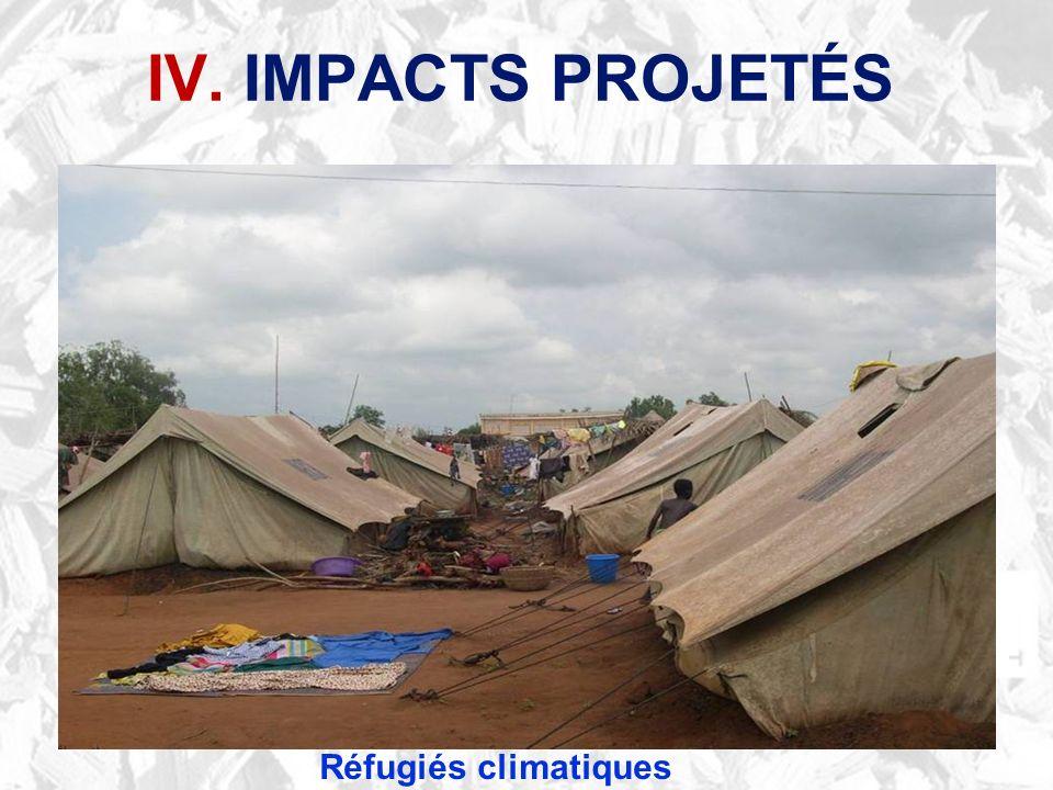 IV. IMPACTS PROJETÉS Réfugiés climatiques
