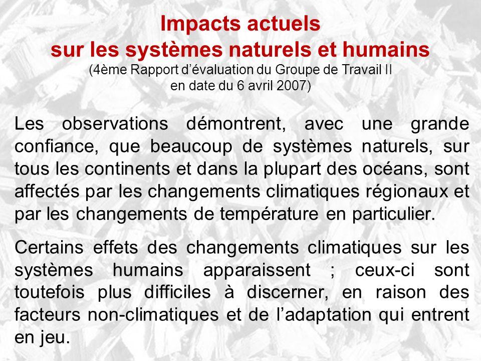sur les systèmes naturels et humains