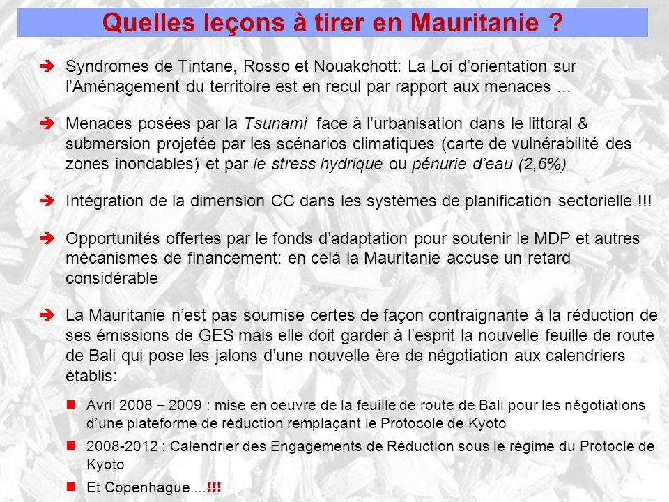 Quelles leçons à tirer en Mauritanie