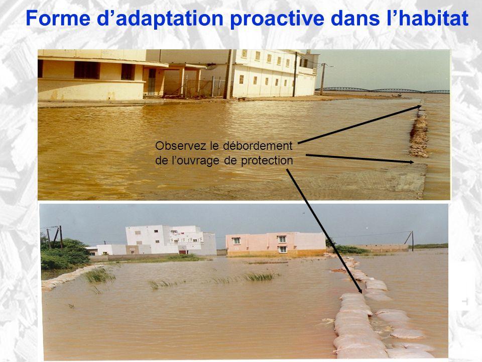 Forme d'adaptation proactive dans l'habitat