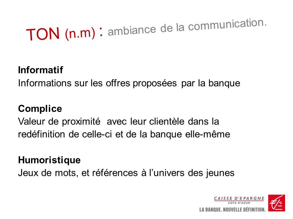 TON (n.m) : ambiance de la communication.