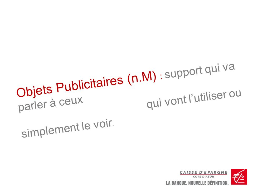 Objets Publicitaires (n