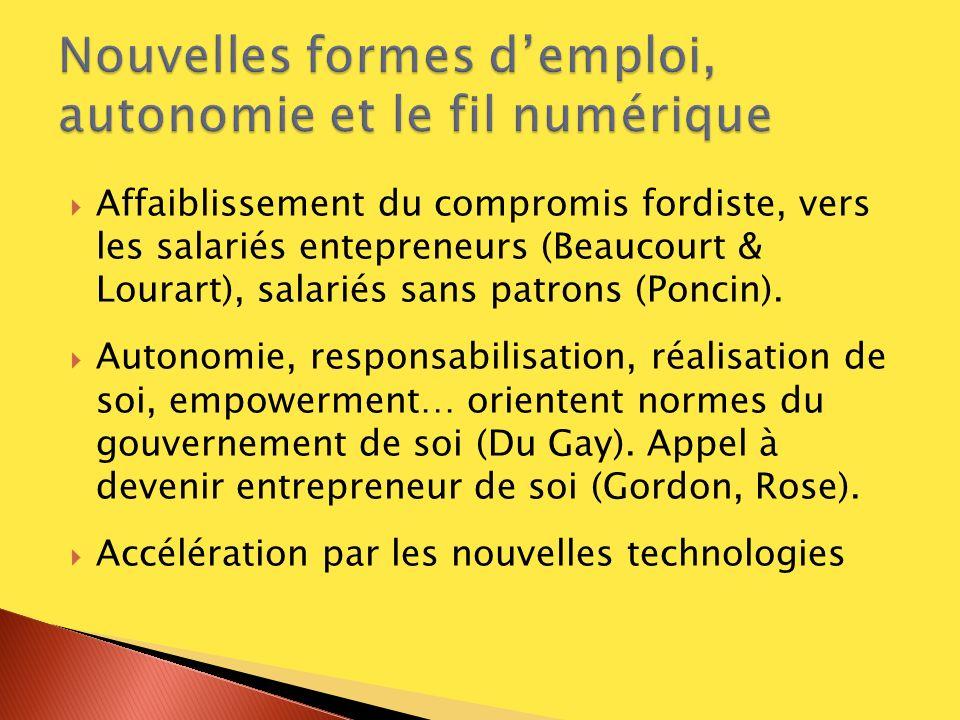 Nouvelles formes d'emploi, autonomie et le fil numérique