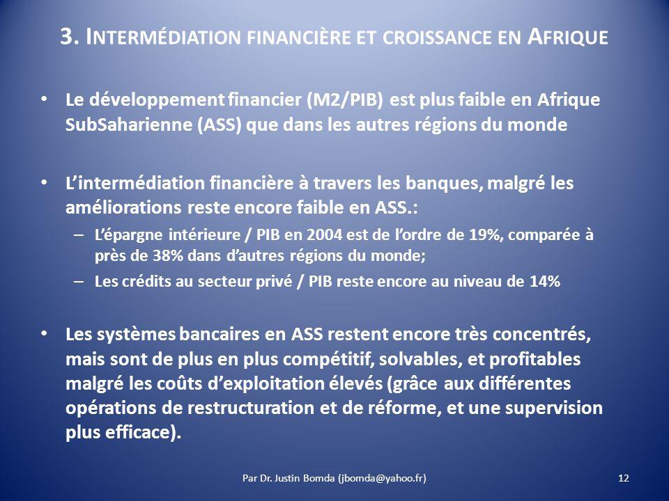 3. Intermédiation financière et croissance en Afrique