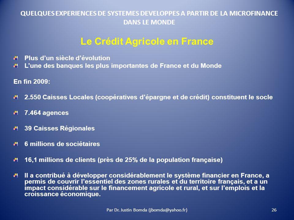 Le Crédit Agricole en France