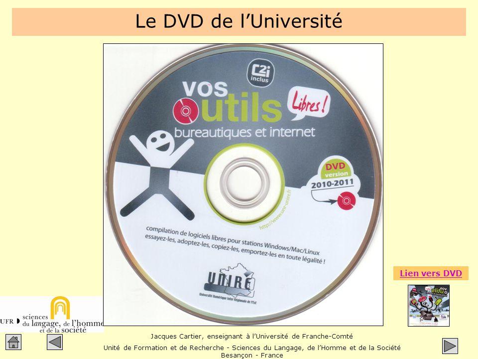Le DVD de l'Université Lien vers DVD