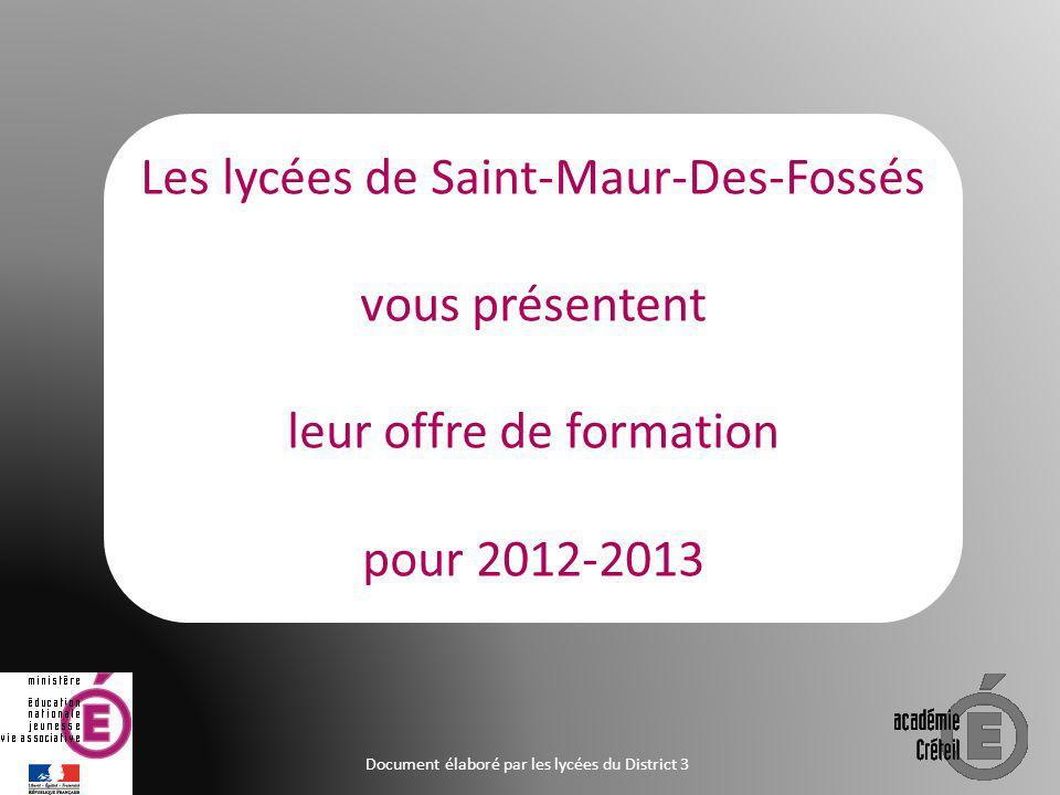 Les lycées de Saint-Maur-Des-Fossés vous présentent
