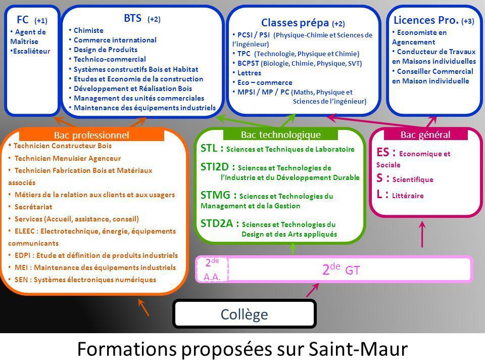 Formations proposées sur Saint-Maur