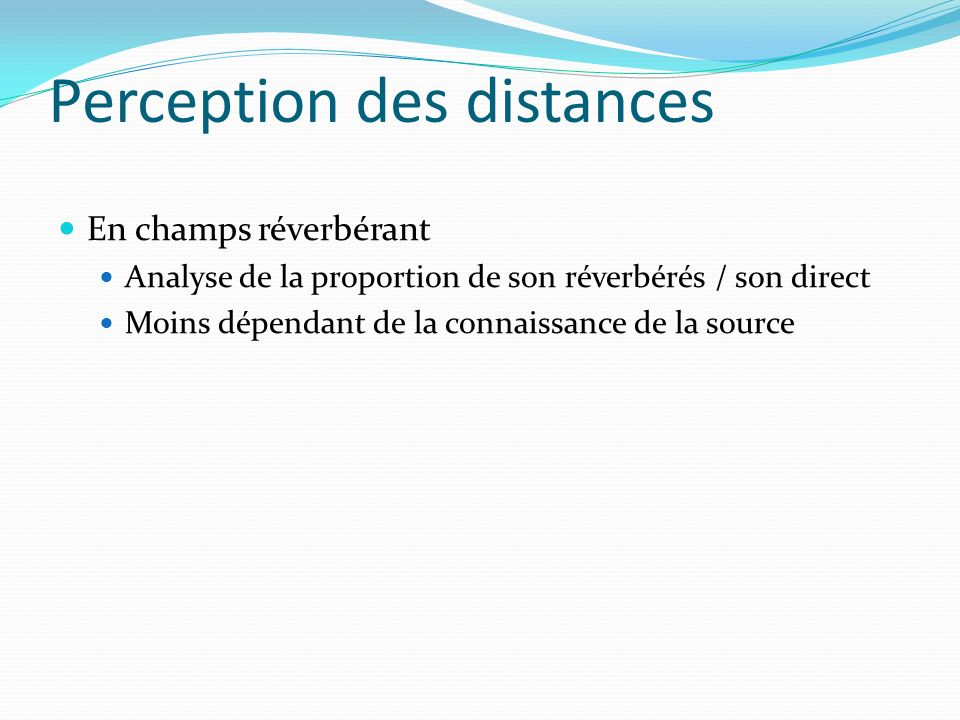 Perception des distances