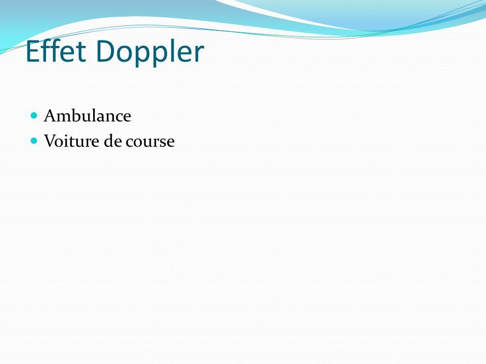 Effet Doppler Ambulance Voiture de course