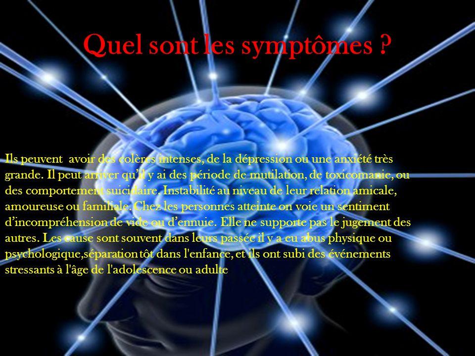 Quel sont les symptômes