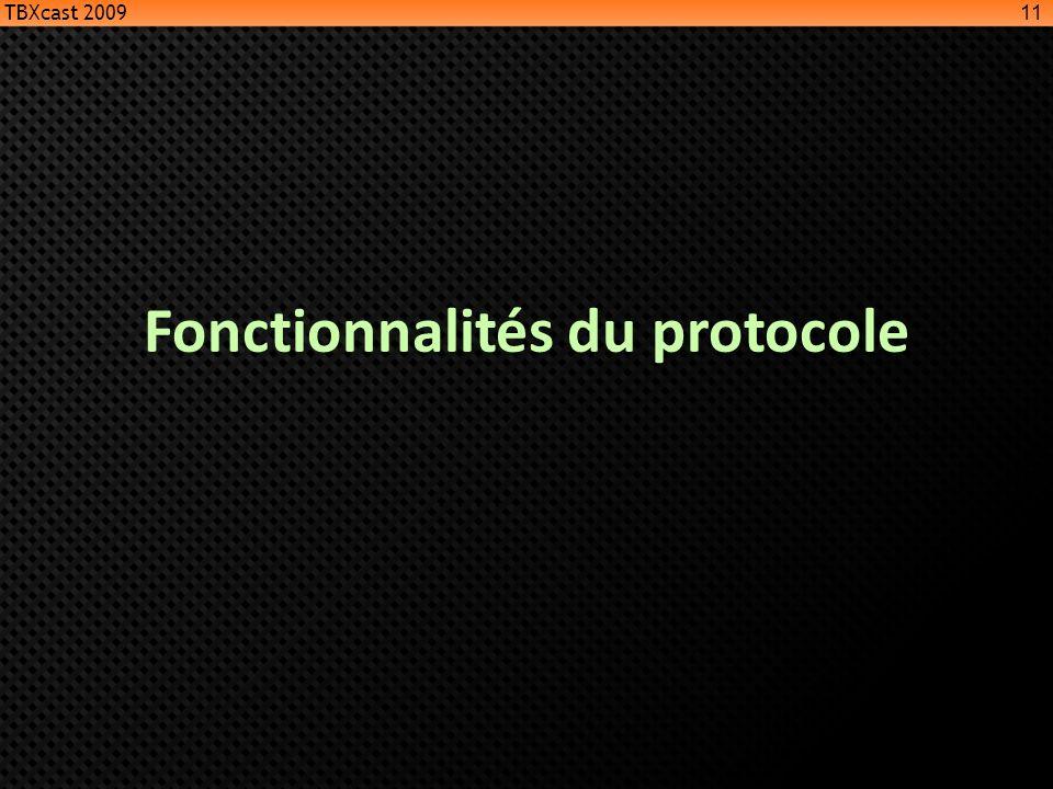 Fonctionnalités du protocole