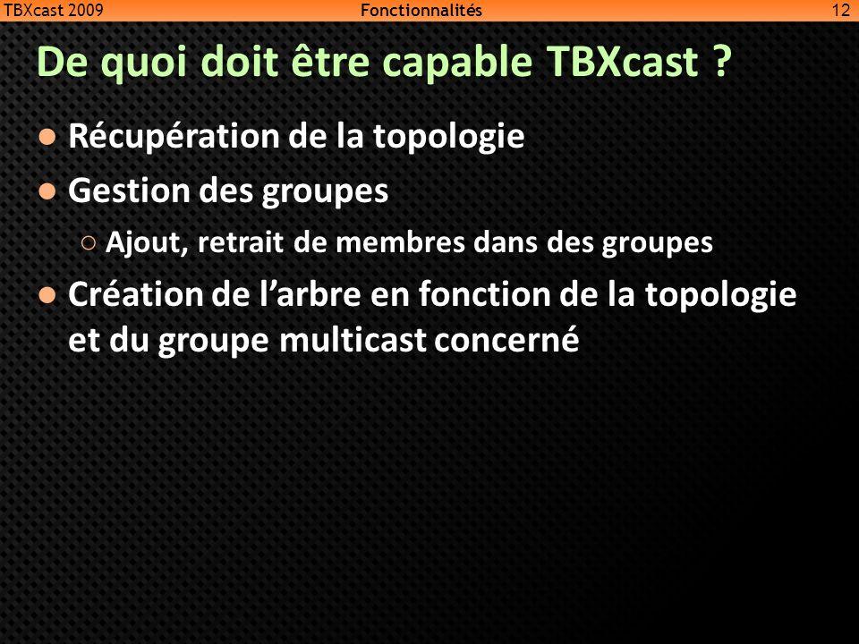 De quoi doit être capable TBXcast