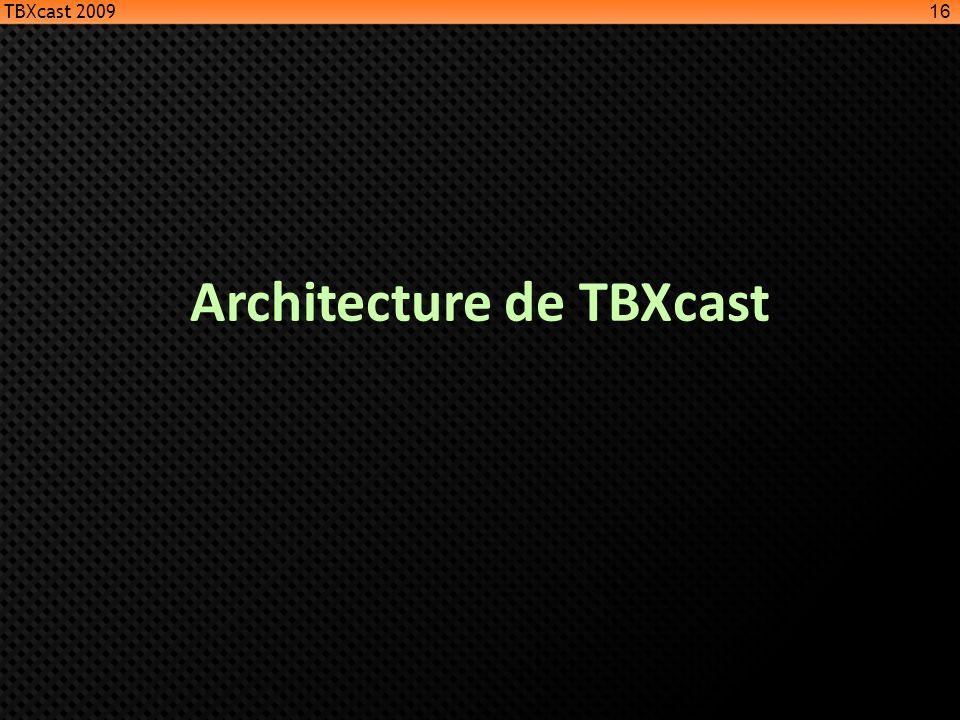 Architecture de TBXcast