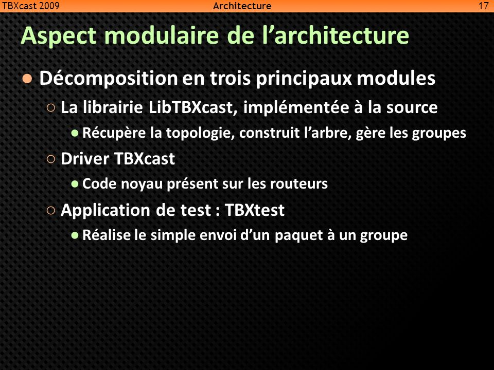 Aspect modulaire de l'architecture
