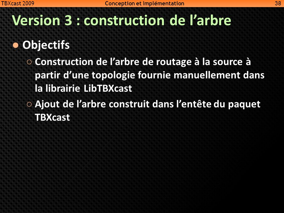 Version 3 : construction de l'arbre