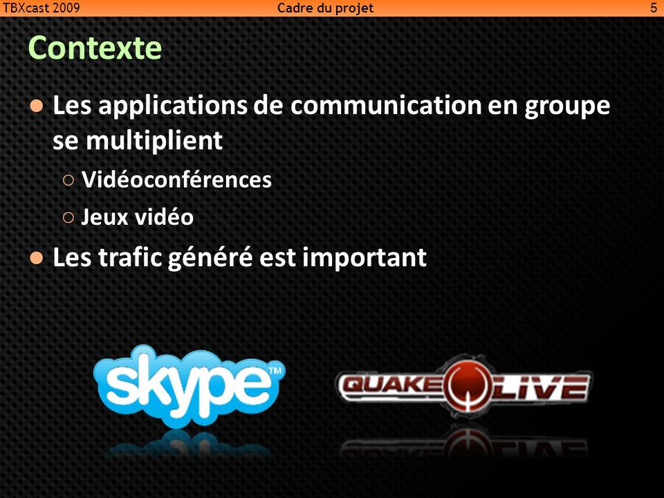 Contexte Les applications de communication en groupe se multiplient