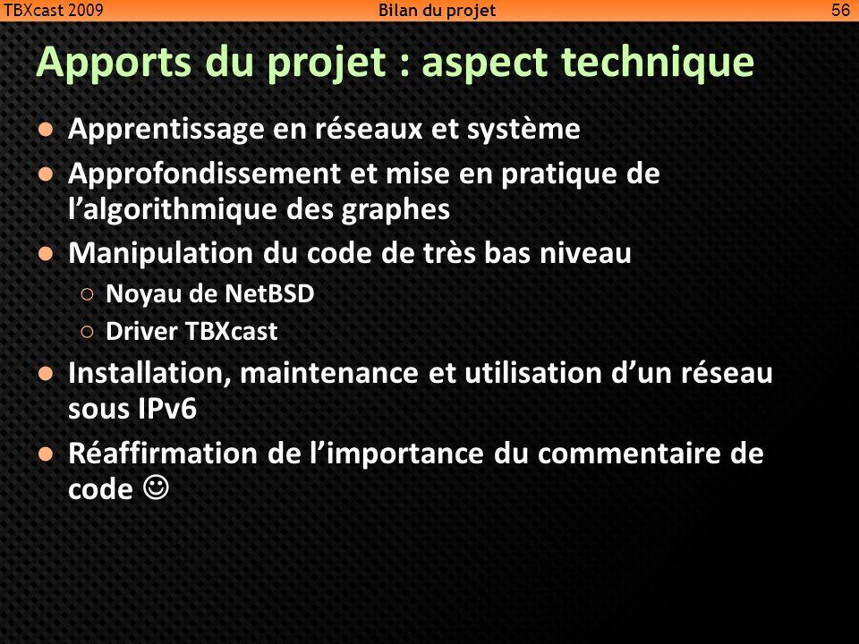Apports du projet : aspect technique