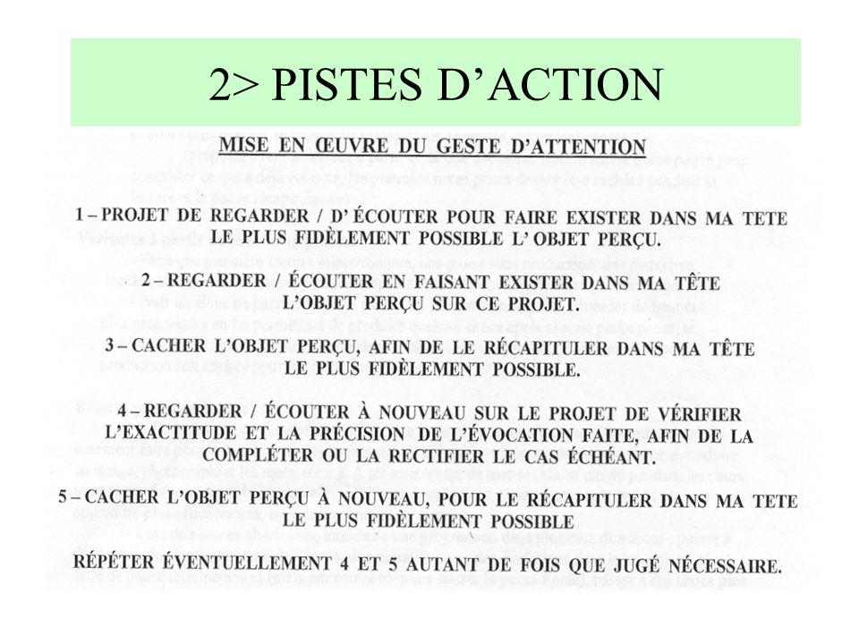 2> PISTES D'ACTION