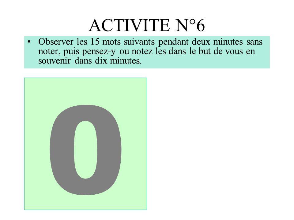ACTIVITE N°6