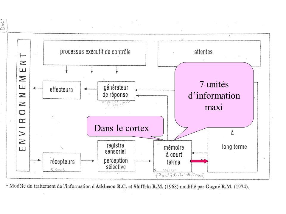 7 unités d'information maxi