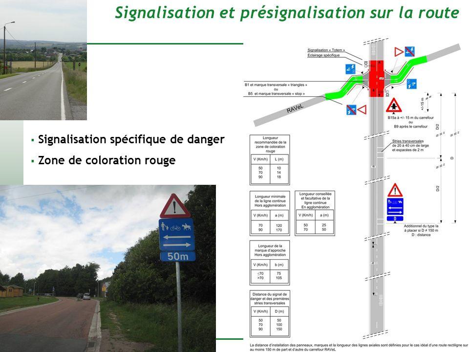 Signalisation et présignalisation sur la route