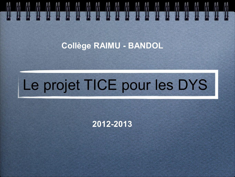 Le projet TICE pour les DYS