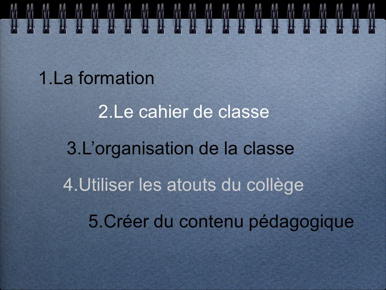 3.L'organisation de la classe