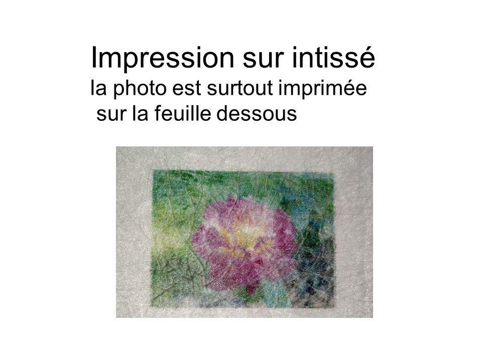 Impression sur intissé